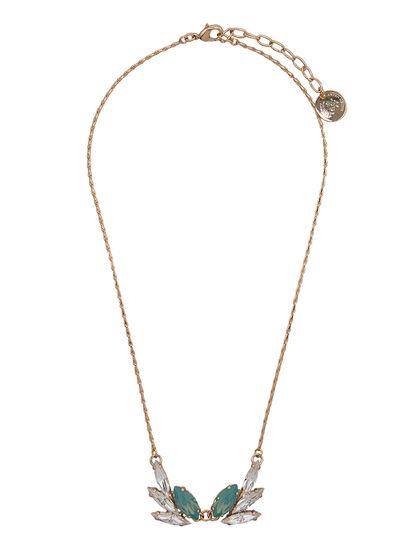 Floral Motif Crystals Necklace