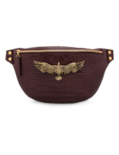 Thalia Small Matte Burgundy Croco Gold