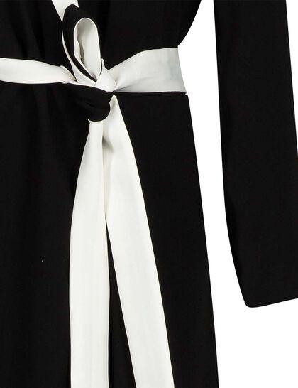 Hayataha Blazer, Ankle Length Blazer With Hayataha Embroidery With Belt Rope
