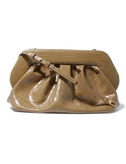 Bios Croc-Embossed Clutch Bag