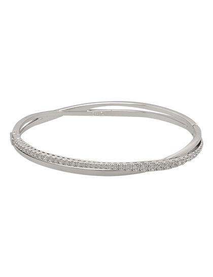 Sjc Twist Bangle Rows Czwh/Rhs M