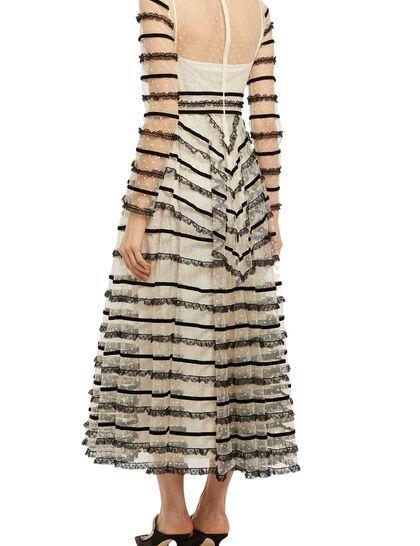 Tulle Lace Midi Dress