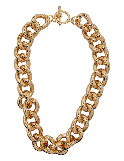 Kjy 18 1/2 Gold Chain Necklace W/Toggle Clasp