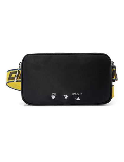Ow Logo Double Nylon Bodybag Black White
