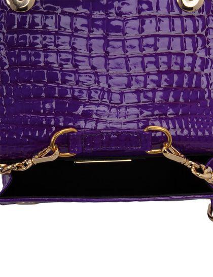 """Baby Joelle"" Belt Bag Glossy Purple Croco"