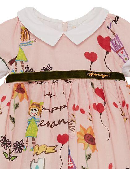 Pink Speranza Cotton Baby Dress