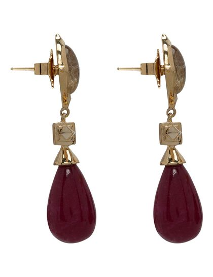 Temple Muse Marsala Quartz Drop Earring