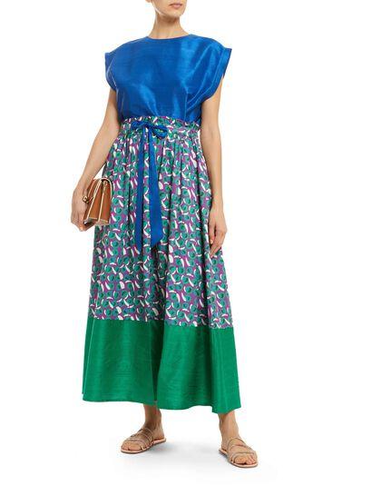 Organic Cotton And Silk Skirt