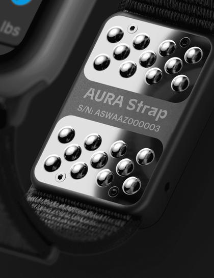 AURA Strap for Apple Watch black 38/40 mm