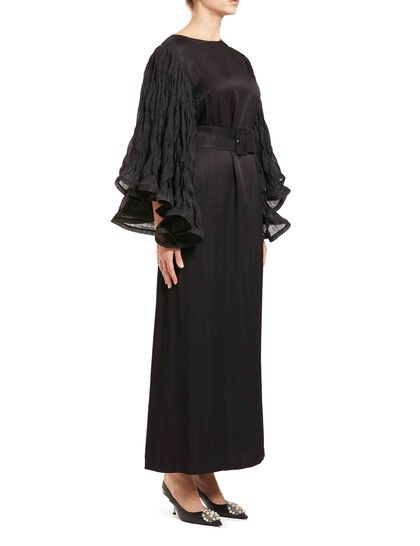 Crinkled Sleeve Gown