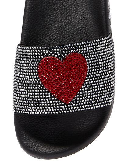 Glitter Heart Slides