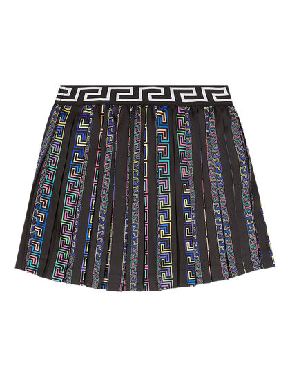 Print Detail Pleated Skirt