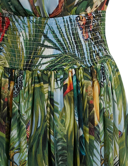Jungle Forest Silk Gown