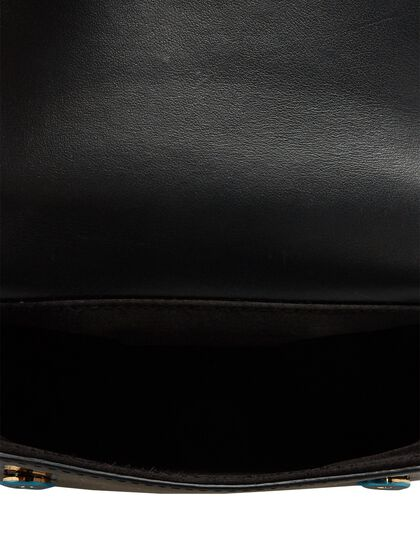 Patent-Leather Top Handle Bag