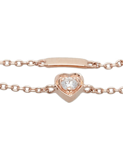 Mini Heart Ring Single Mini Heart With Diamond