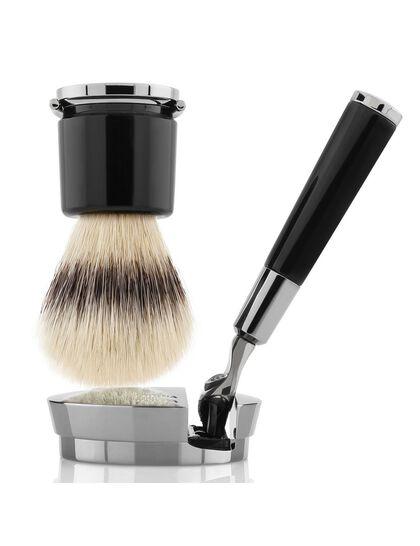 Black Razor and Brush