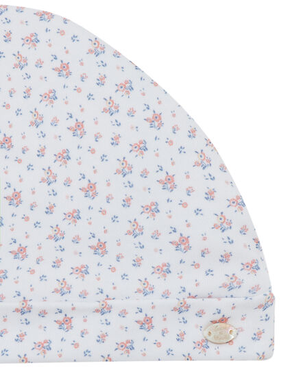 Floral Print Baby Hat