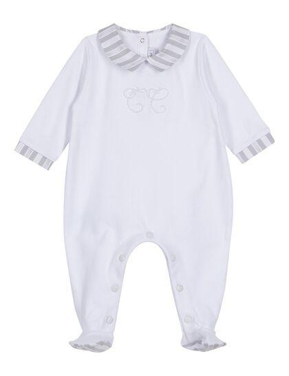 Cotton Poplin Baby Romper