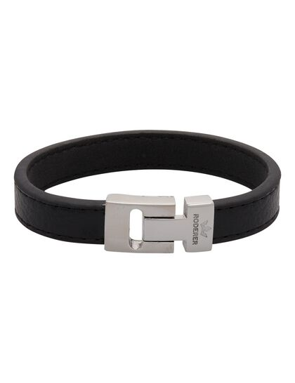 Andrea Bracelet - Grained Leather Black