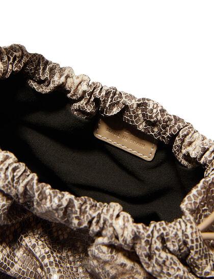 Mini Woven Basket Vegan Leather