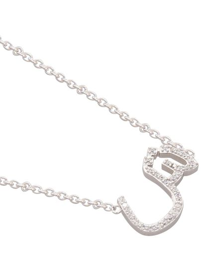 Necklace With Paved Arabic Let