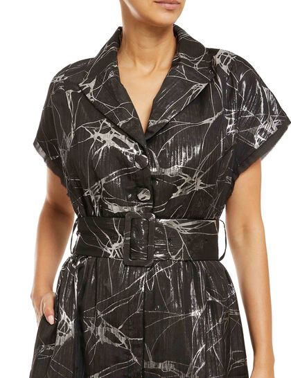 Shirt-Dress Made Of Signature Jacquard Fabric, Exclusive To Baruni