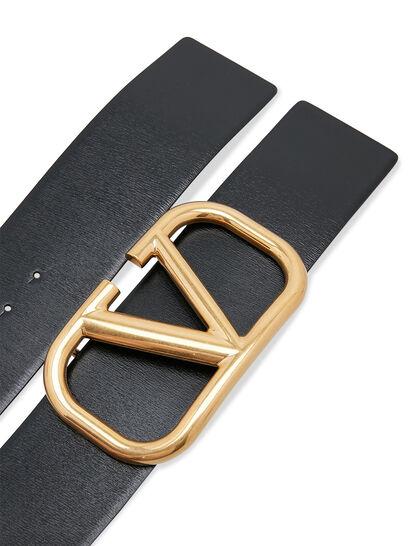 VLOGO Leather Buckle Belt