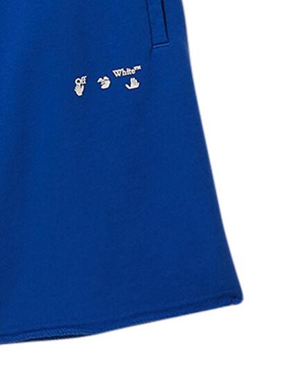 Diag Ow Logo Sweatshorts Blue White