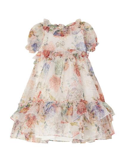 Floral Detail Lurex Dress