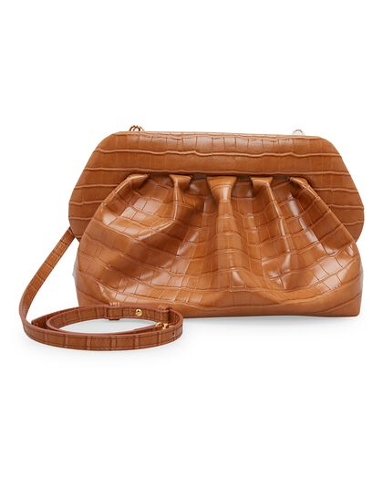 Bios Croco-Embossed Clutch Bag