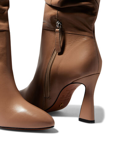 Leather Point-Toe Boots