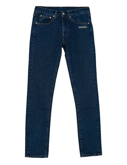 Diagonal Slim-Fit Jeans