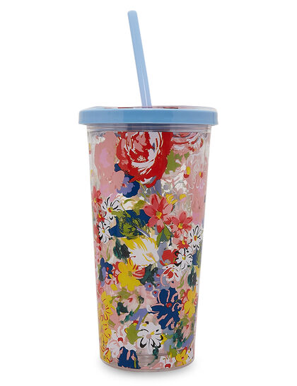 Bdo Sip Sip Tumbler With Straw, Flower Shop