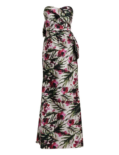 Printed Mikado Gown
