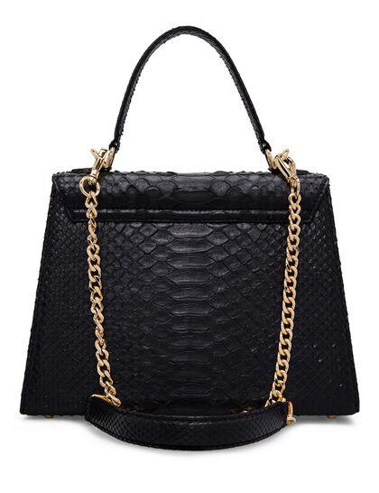 Top Handle Large Python Bag