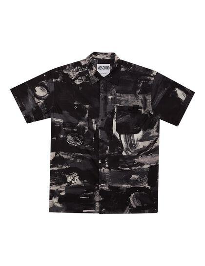 Shirt Ss Paint Grey Black