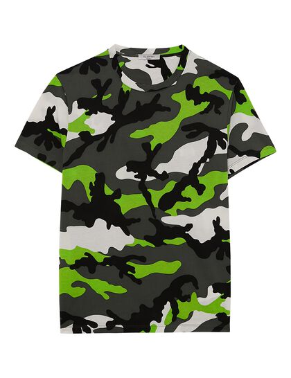 Camouflage Print T-Shirt - Green