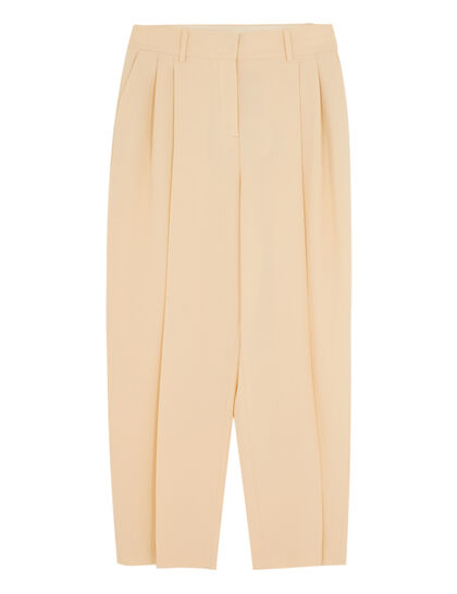 High-Rise Gathered Trousers
