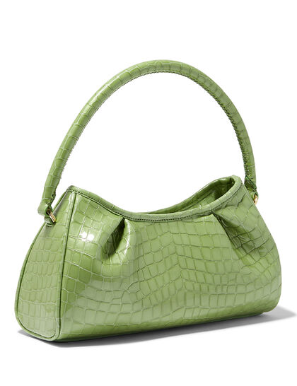 Dimple Croco Pearl Leather Jade
