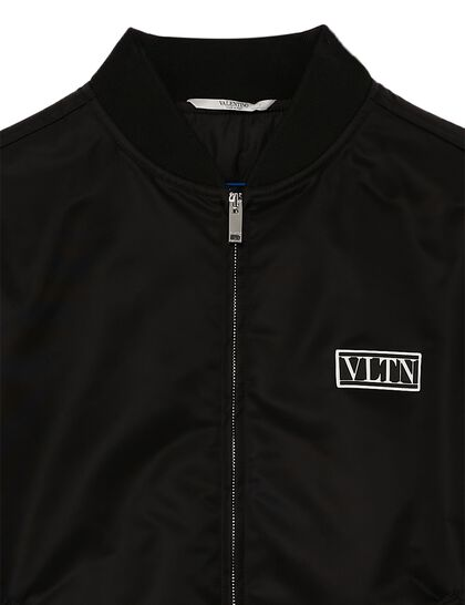Nylon Bomber With VLTN TAG