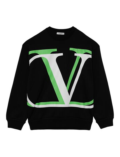 Full-Sleeves Logo Sweatshirt - Multi- Color