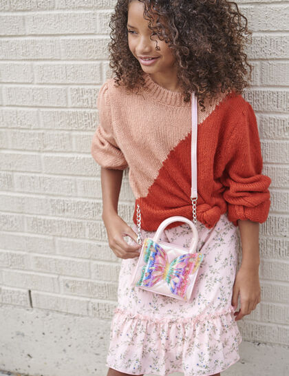 Miss Butterfly Quilted Mini Handbag