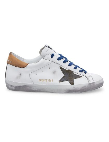 Super-Star Leather Upper Suede Star Nabuk Heel