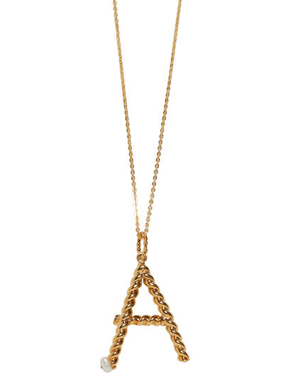 A-Letter Gold Necklace