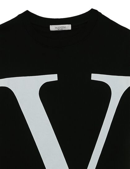 V  Logo Cotton T-shirt