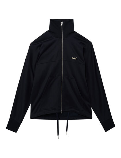 Technical Zipped Jacket With Ami Embroidery