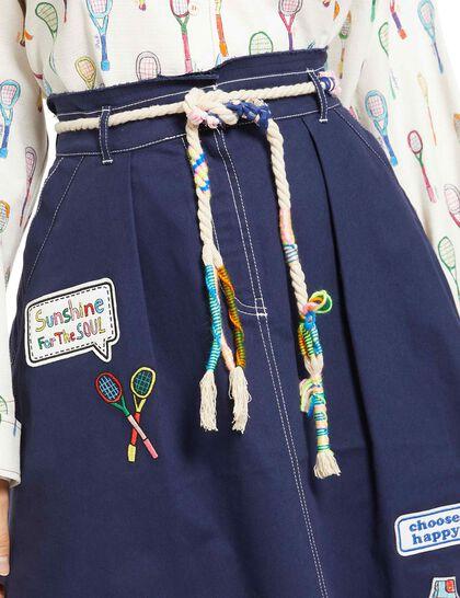 Topstitch Detail Skirt