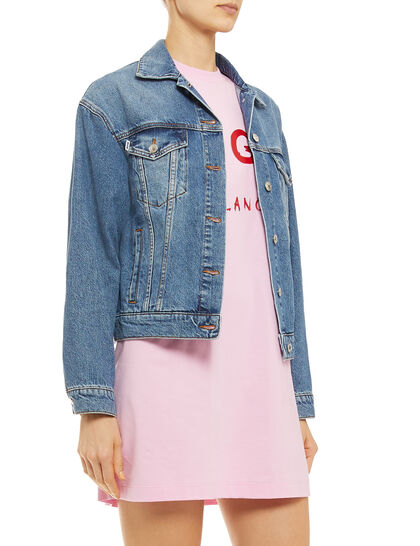 Graphic Denim Jacket