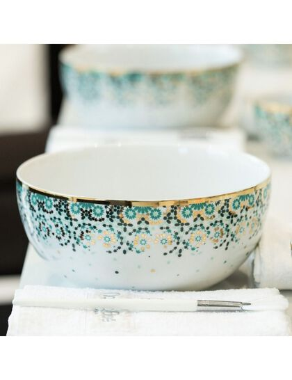 Mirrors Salad Bowl (M) - Emerald