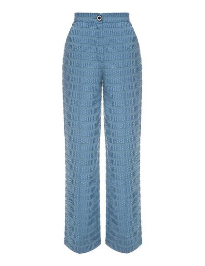 Textured Classic Fit Pants